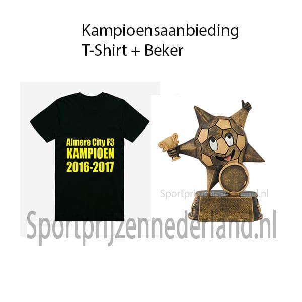 T-shirt + beker