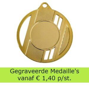 Medailles gegraveerd
